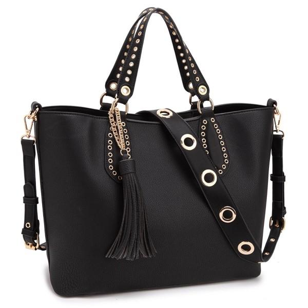 DASEIN Leather Shoulder Satchel Handbags