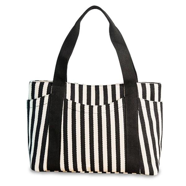 Fanmaous Handbag Satchel Striped Shoulder