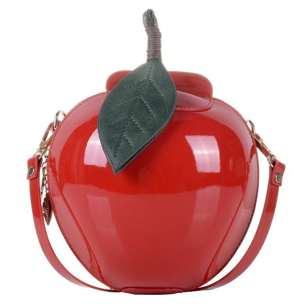679ca74607225 Women s PU Small Cute Apple Shape Handbag PU Leather Purse Shoulder ...