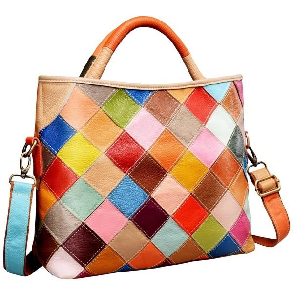 Womens Multi color Shoulder Handbag Colorful 2B4029