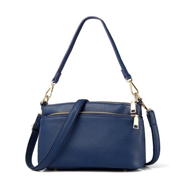 60c272c6b31 Small Women Purses Handbags PU Leather Tote Sholder Bags Satchel Zipper  Cross Body Bags - Blue - CO185WCIQGK