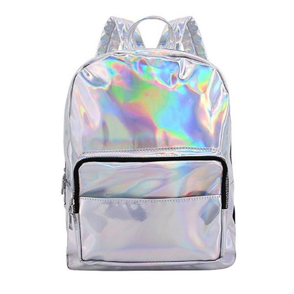 Orfila Hologram Backpack Leather Shoulder