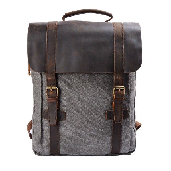 S ZONE Leather Backpack Rucksack 15 6 inch