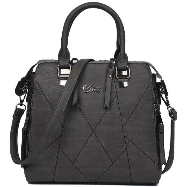 ZMQN Shoulder Leather Handbags Spliced