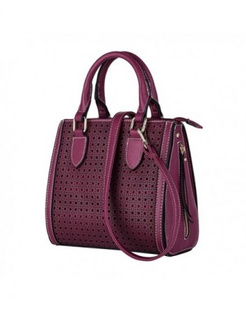 seOSTO Womens Handbags Satchel Magenta