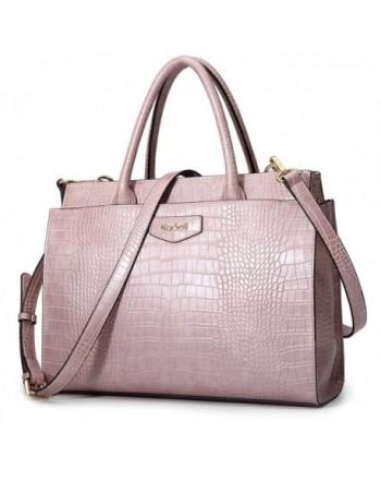 Kadell Designer Handbags Crocodile Embossed