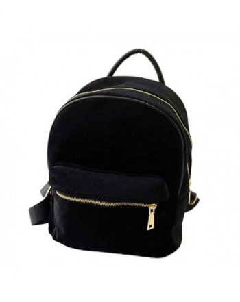 Kemilove Velvet Shoulder School Backpack