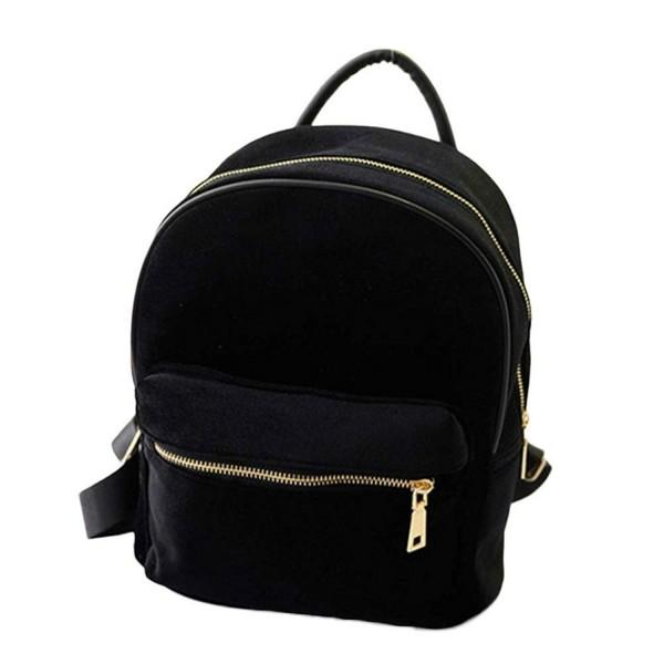 Kemilove Velvet Shoulder School Backpack