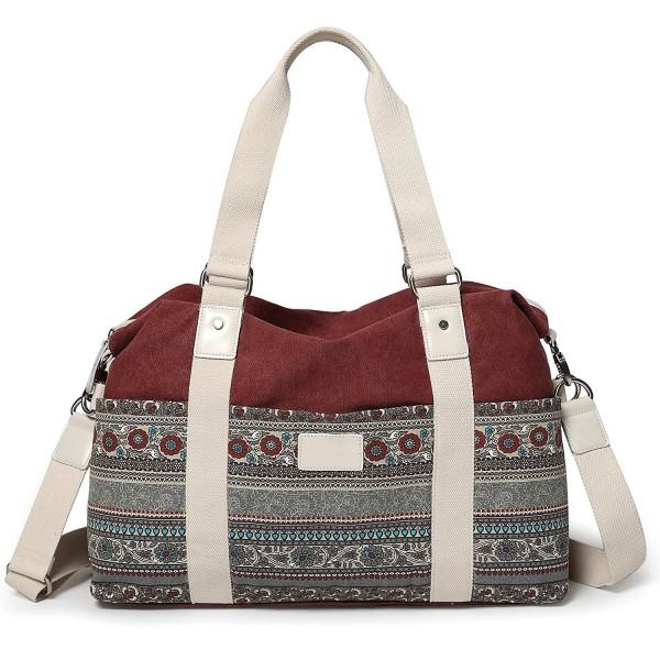 d49f26c16cc ... Tote Bags · Women s Large Canvas Shoulder Hand Bag Tote Bag - Maroon -  C8188SAH4TE. ArcEnCiel Womens Canvas Shoulder Maroon