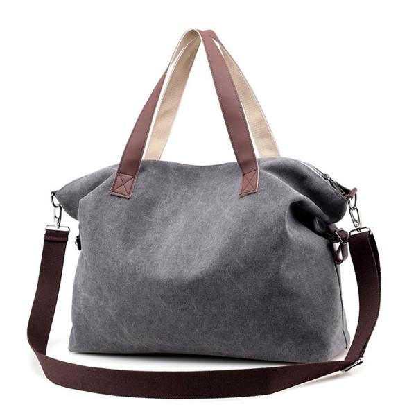 5b93e535ebfb Women's HandbagsShoulder Bags Top Handle Beach Tote Purse Crossbody Bag -  Grey - C5186489A45