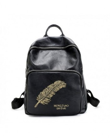 Vicue Embroidery Feather Backpack Shoulder