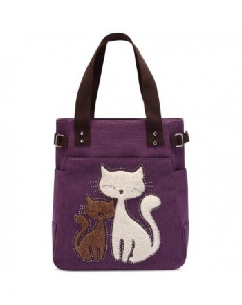 Canvas Handbag Kaukko Shoulder Purple