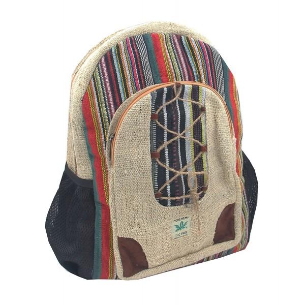 KayJayStyles Natural Handmade Pocket Backpack
