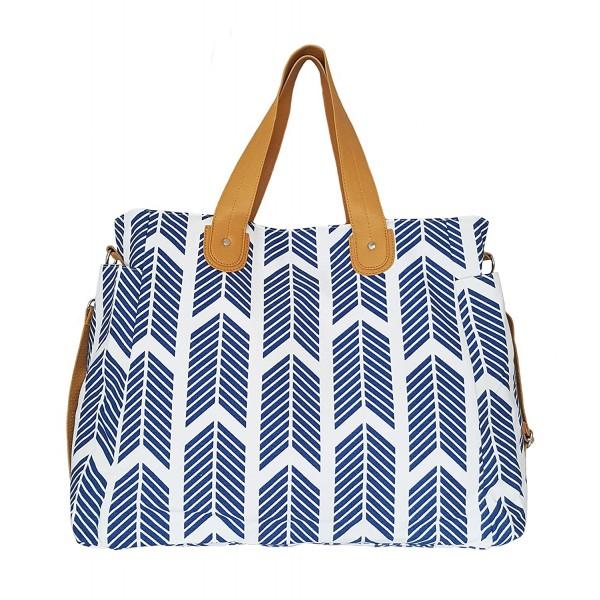 Blue Arrows Weekender Tote Bag