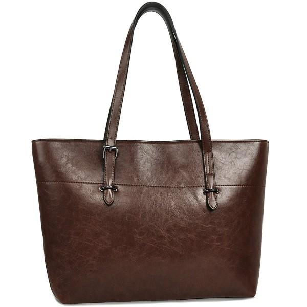 Leather Handbags Capacity Shoulder YAAMUU