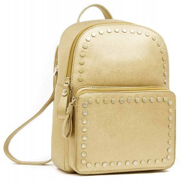 9ea36baa3e9a Leather Backpack For Women Stylish Fashion Square Bag Purse. Yellow Leather  Backpack Purse