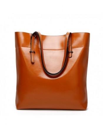 Leather ZZSY Handbags Capacity Shoulder