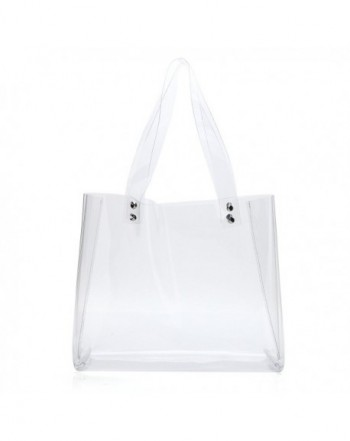 0d81c9d0ba4 Womens Clear Tote Bags for Work Stadium Approved Clear Purse PVC  Transparent Handbags - Horizontal - C7183NRKGXY