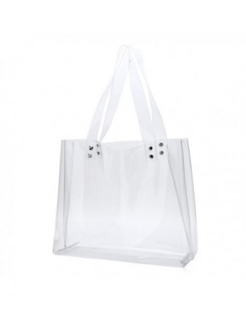 Womens Clear Tote Bags For Work Stadium Roved Purse Pvc Transpa Handbags Horizontal C7183nrkgxy