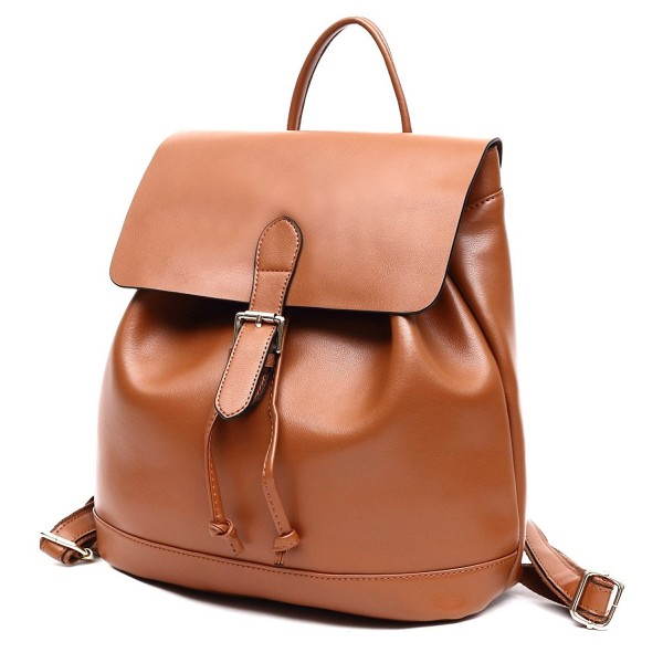 Drawstring Backpack Genuine leather College