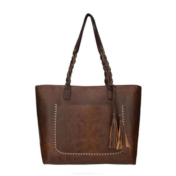 JIARUO Women Leather Shoulder Handbags