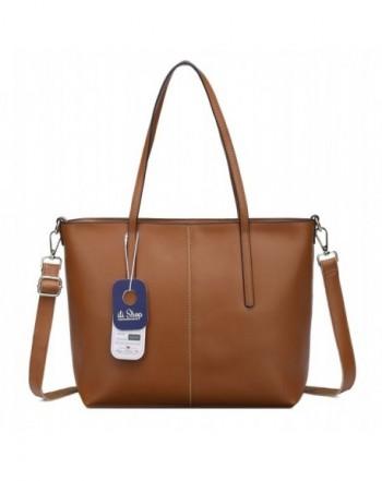Ilishop Fashion Handbag Shoulder Brown small