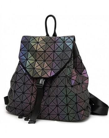 Geometric Backpack Holographic Reflective Backpacks