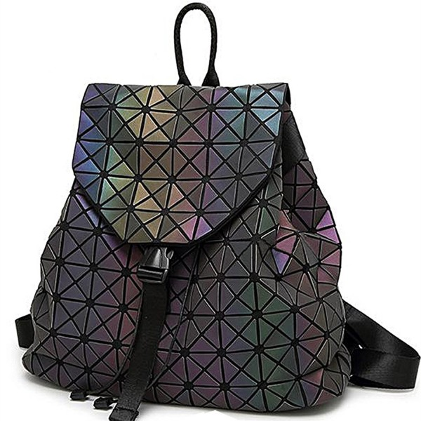 Geometric Backpack Holographic Reflective Backpacks