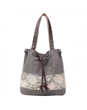 7ec84a5e11daf Women s Canvas Tote Bags Large Casual Shoulder Handbags and Purse - 01gray  - C417Z3IYMYI