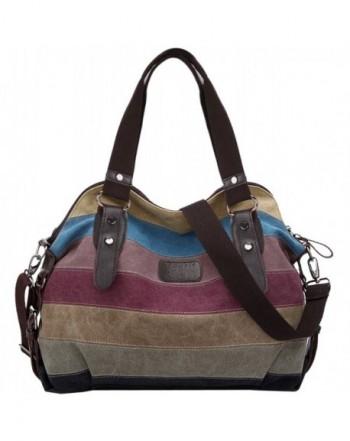 Coofit Stripe Leisure Canvas Handbags