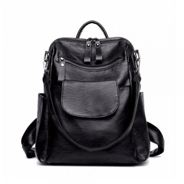 Artwell Backpack Leather Rucksack Shoulder