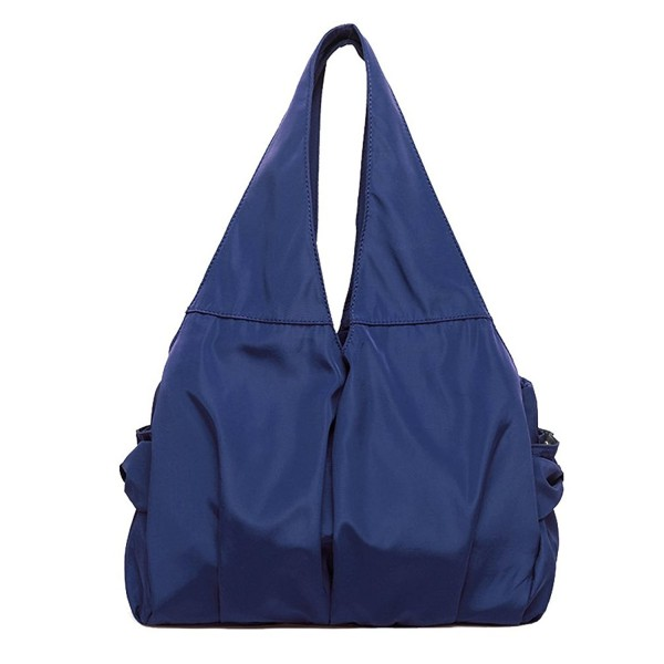 fantastinen säästö täysin tyylikäs lähemmäs Women Tote Bags Multi Zipper Pockets Nylon Purse Shoulder Bag Handbags -  Navy - CS185NR28Y4