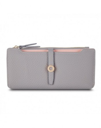 Prettyzys Womens Change Leather Wallet