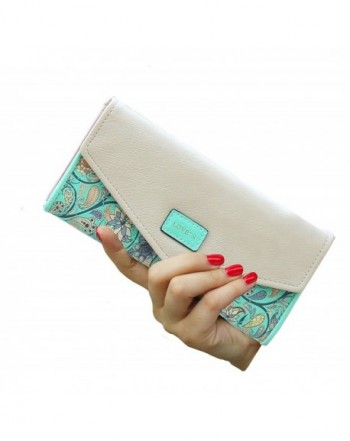 SeptCity Womens Leather Western Clutch Green