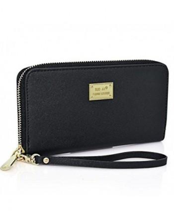 Wallet Leather Zipper Credit Handbag
