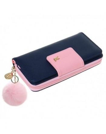 Wallet NEWANIMA Multi card Handbag Keychain Darkblue