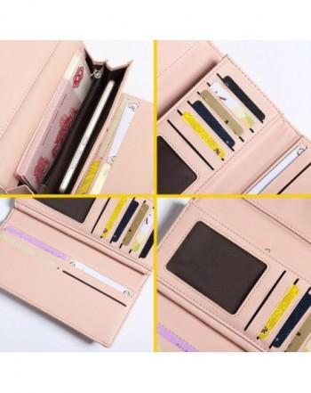 c946af54f924 Women RFID Blocking Multi Card Organizer Wallet for women Purse - Pink -  CG187WOY6OZ