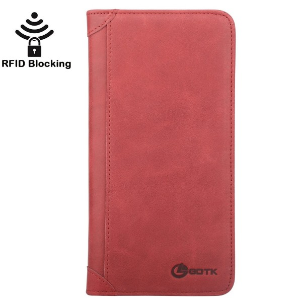 fcc5b1505 Women's Wallet - Genuine Italian Leather Long Bifold RFID Blocking ...