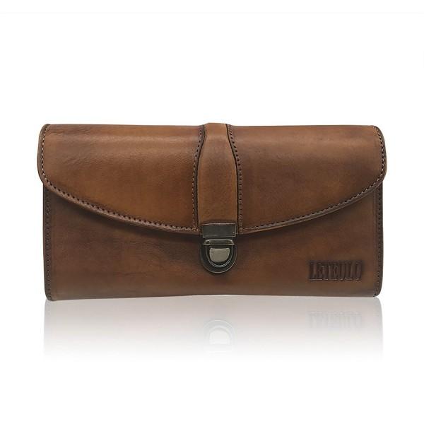 Capacity Handmade Genuine Leather 923Brown