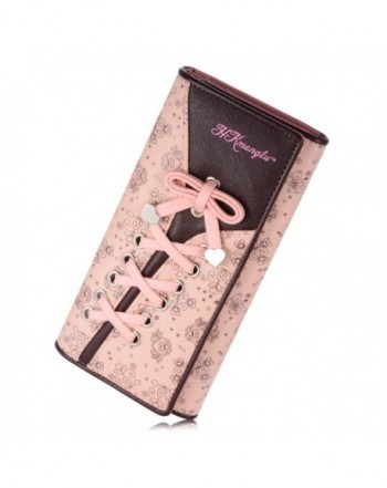 Womens Wallet Clutches Leather Bandage