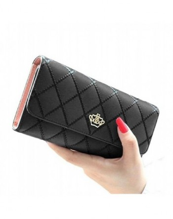 Womens Ladies TriFold Diamond Handbag