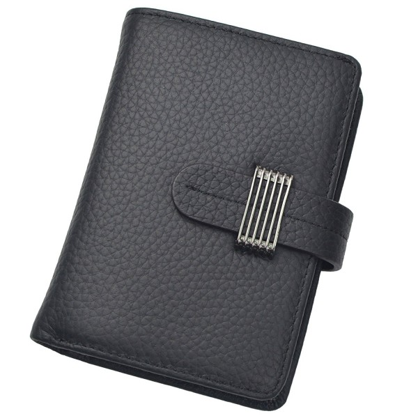 elegant and graceful select for best arrives Women's RFID Blocking Security Leather Small Compact Billfold Ladies Wallet  - Black - CY184HXAAZ5