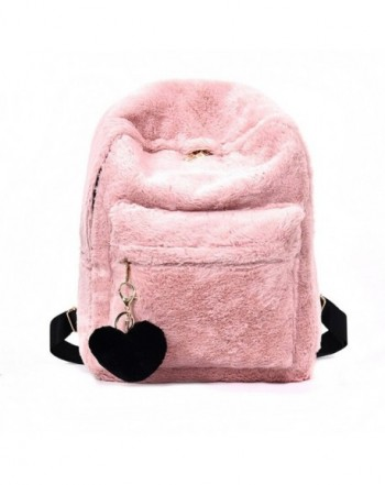 YSMYWM Backpack Shoulder Fluffy Pendant