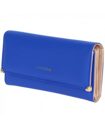 FUNOC Leather Wallet Credit Clutch