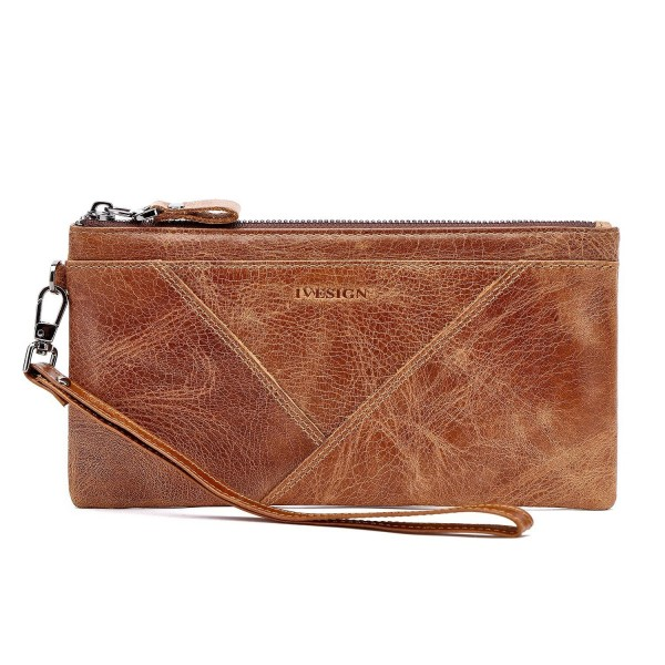 IVESIGN Blocking Genuine Leather Wristlet