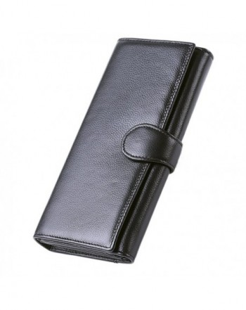 Hoobest Blocking Leather Trifold Wallet