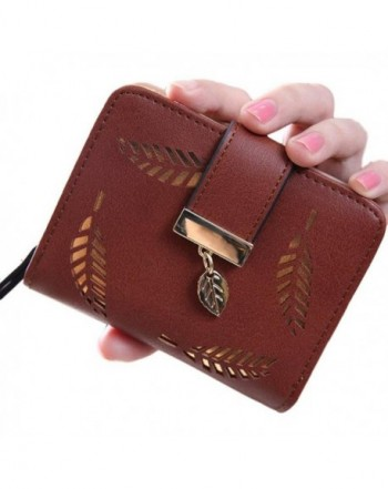 Womens Wallet Gold Motif Brown