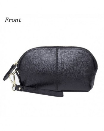 Womens Leather Wristlet Shell Shaped Wallet