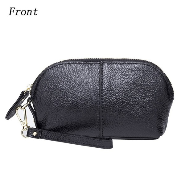 outlet store sale 0aa16 cb1a1 Womens Small Leather Wristlet Purse Shell-Shaped Cell Phone Wallet Iphone 7  Plus 6S Galaxy S7 Note 5 - Black - CF185YGMURQ