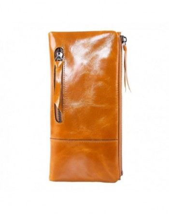 AINIMOER Fashion Leather Vintage Billfold
